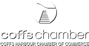 Coffs Chamber Logo White
