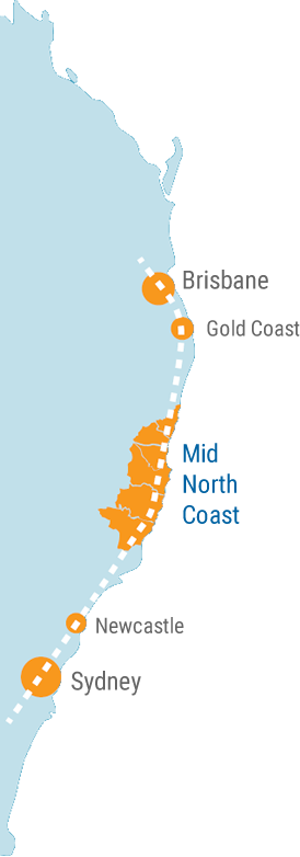 Mid North Coast Map