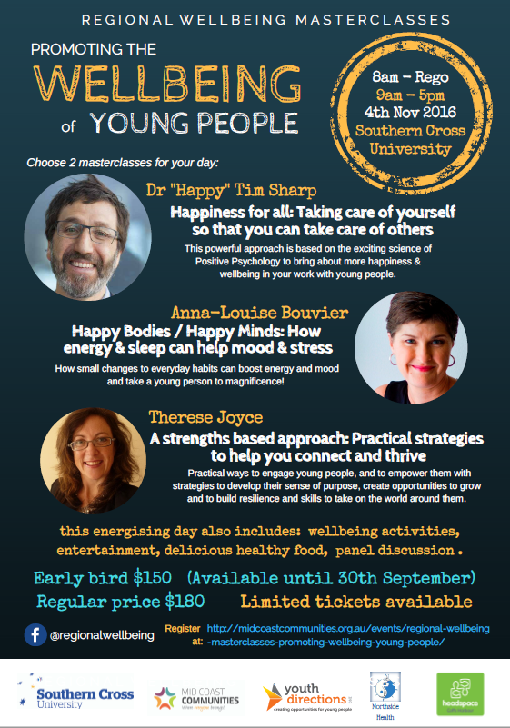 Promoting Wellbeing of Young People Masterclass - Coffs Chamber